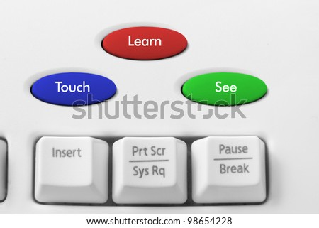 Internet Learning Concept with Computer Keyboard - stock photo