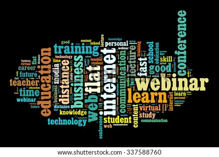 Internet learning illustration word cloud concept