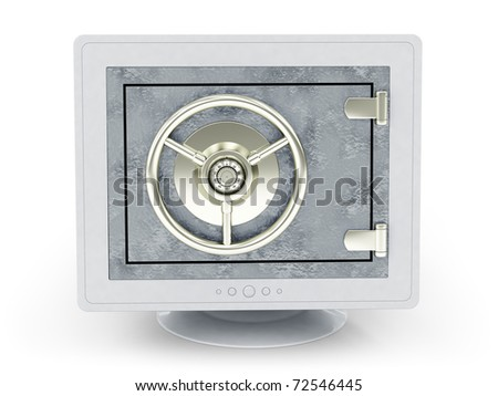 internet lock - stock photo