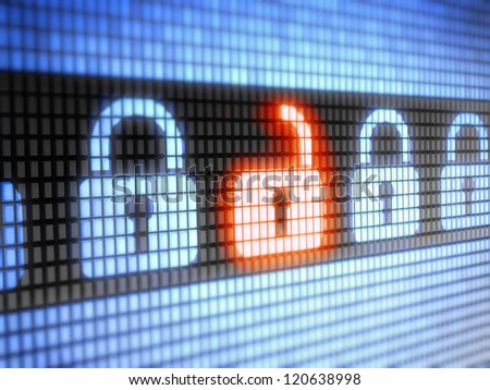 internet lock  Full collection of icons like that is in my portfolio - stock photo