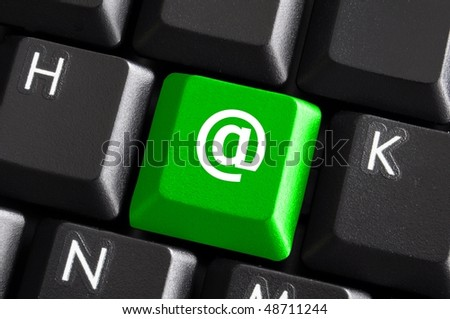 internet or web concept with email or mail button