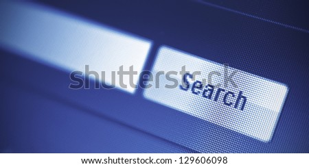 internet searching engine on monitor screen - stock photo
