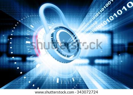 Internet security - stock photo