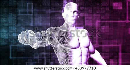 Internet Security and Protection Software Solutions Art 3D Render Illustration - stock photo