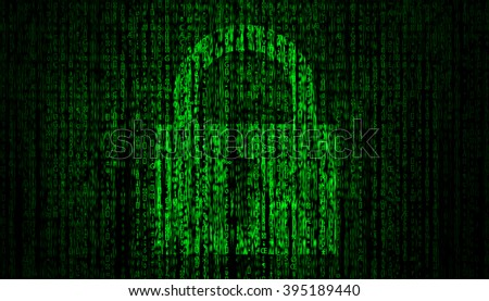 Internet Security concept with lock symbol      - stock photo