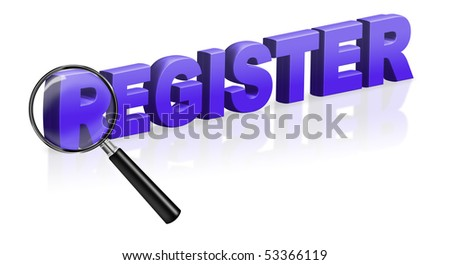 internet site registration register button 3D text register online register button register icon register here - stock photo