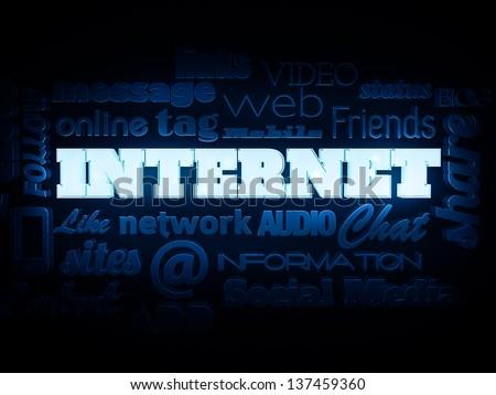 Internet tag cloud - stock photo