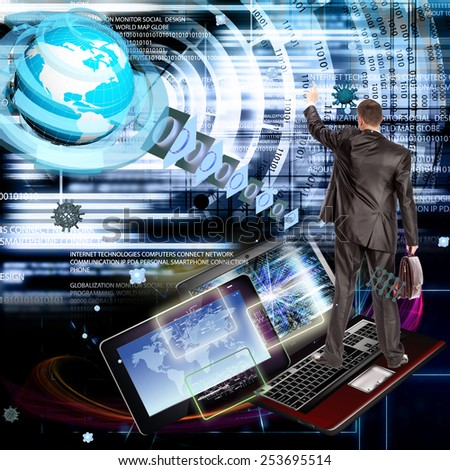 Internet technologies.Creation new innovative connection - stock photo