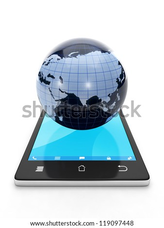 Internet technology. Access to the Internet from a mobile phone, the connection
