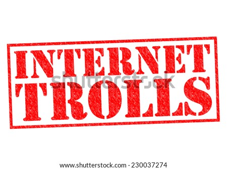 INTERNET TROLLS red Rubber Stamp over a white background. - stock photo