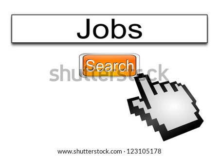 Internet web search engine jobs - stock photo