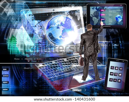 Internet website network.E-business - stock photo