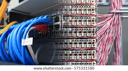 Internet Wire Cable Connection Switch Hub Stock Photo (Royalty Free ...