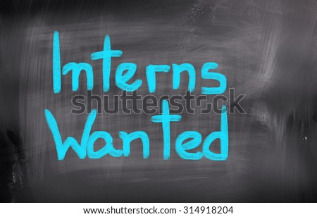 Interns Wanted Concept - stock photo
