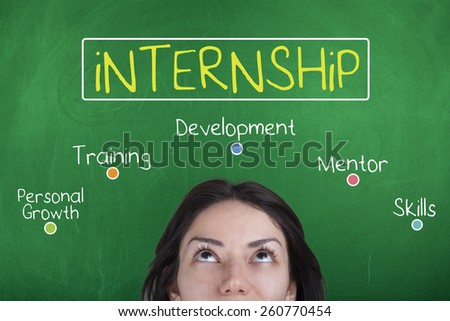 Internship - stock photo