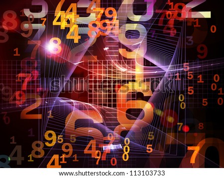 Interplay of numbers and fractal elements on the subject of computers, science, math and modern technology