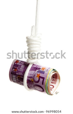 Interpretation of the world wide  problems in the financial world - stock photo