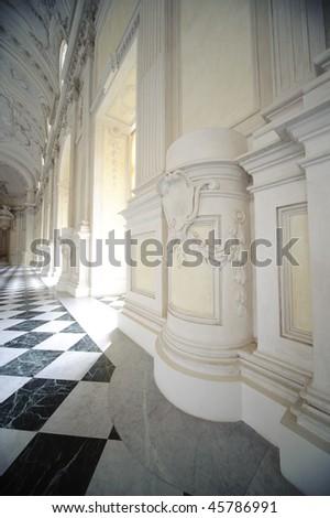 interrior of royal palace Reggia di Venaria - Turin - stock photo