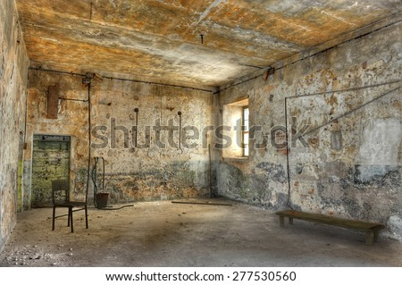 Interrogation room. - stock photo