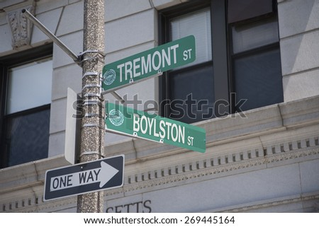 Intersection of Tremont Street and Boylston Street, Boston, MA