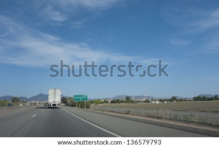 Interstate-10 agriculture control post at Rivera Drive in Blythe, California