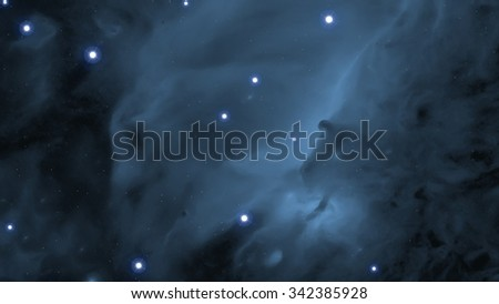 Interstellar Cosmic Background. Images with realistic stars. - stock photo