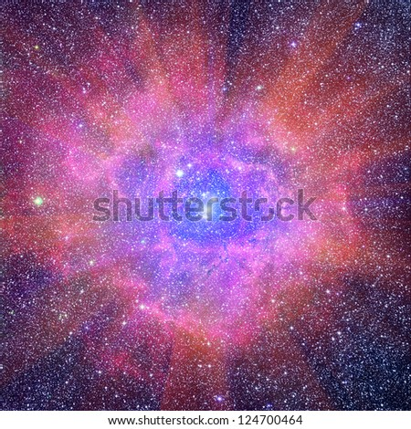 Interstellar nebula - stock photo