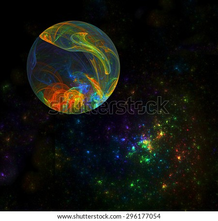 Interstellar Planet abstract illustration - stock photo