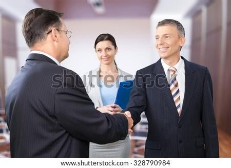 Interview. - stock photo