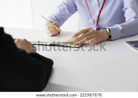 Interview in the office - stock photo