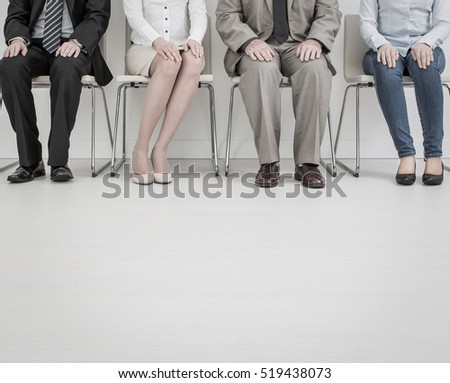 interview job recruitment waiting stress business stressful hire training stressed exam teamwork hiring resource presentation executive group position meeting brainstorming learn staff - stock image
