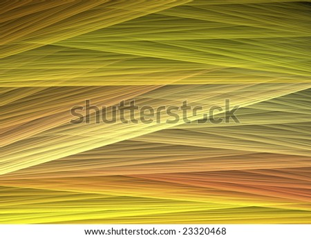 Interwoven threads with yellow, gold, and light green tones