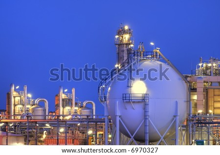 Intimate part of a chemical production facility.