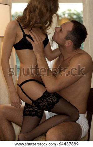 intimate young couple during