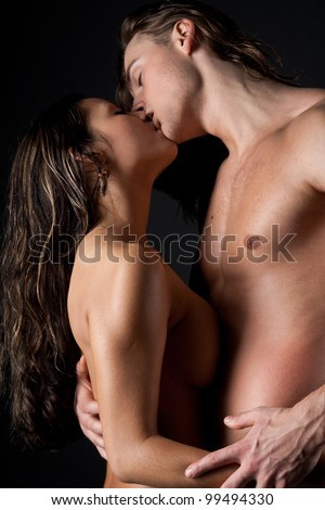 Intimate young couple during the act of sex - stock photo