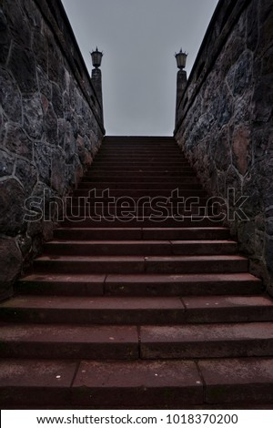 Intimidating staircase to nowhere