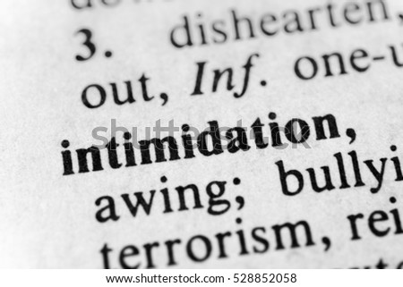 Bildresultat för intimidation