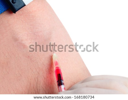 intravenous injection - stock photo