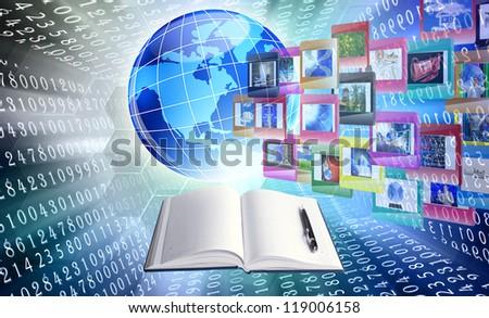 Intrenet innovative education - stock photo
