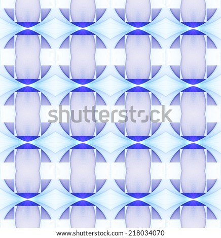 Intricate blue / purple diamond / stripe abstract string pattern on white background (tile able) - stock photo