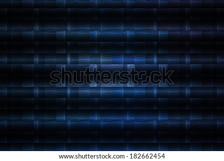 Intricate blue / silver striped design on black background