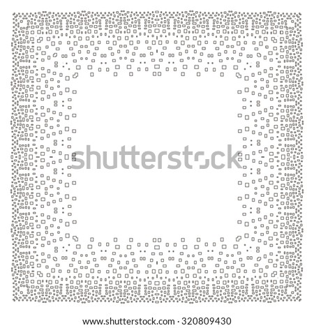 Intricate Digital Frame Small Rectangles Stock Illustration ...