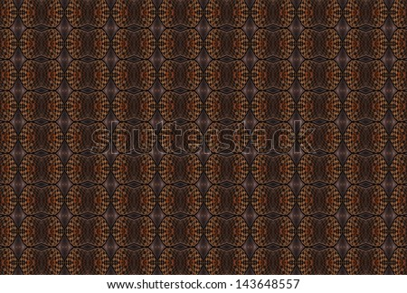 Intricate orange / copper checkered diamond design on black background (tile able)