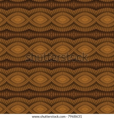 Intricate orange / gold braided pattern on black background (3D) - tile able