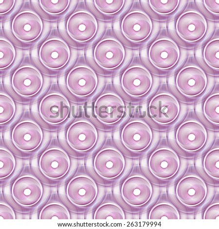 Intricate purple double spiral string pattern on white background (tile able)  - stock photo