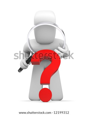 Intricate question - stock photo