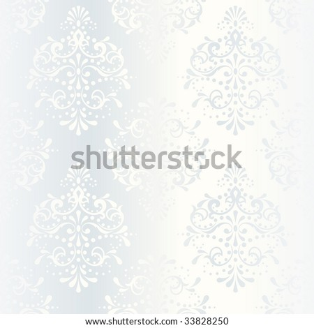 Intricate white satin wedding pattern (JPG); a vector version is also available - stock photo