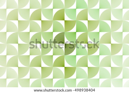 Intricate woven lime / green abstract geometric design on white background