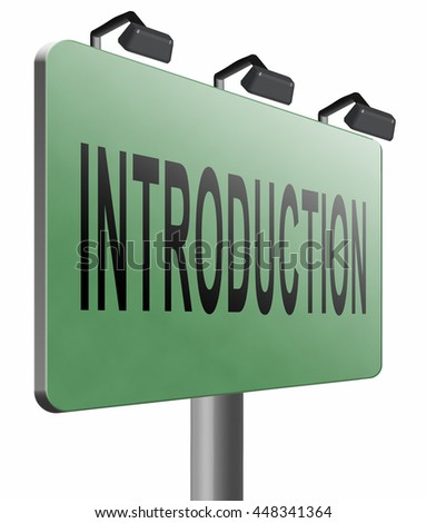 Introduction or about us road sign a biography or bio, 3D illustration, isolated, on white