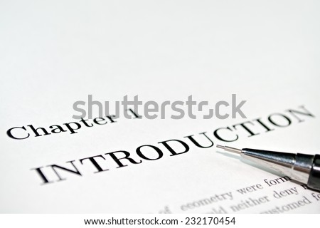 Introductory words at the beginning of a professional paper